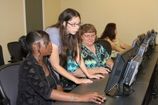 Client receive computer training.